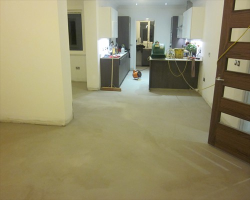 microscreed decorative concrete flooring installation at residential property in Aberdeen Scotland