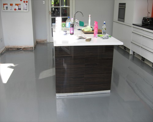 Seamless Grey Poured Resin Floor Residential Newcastle