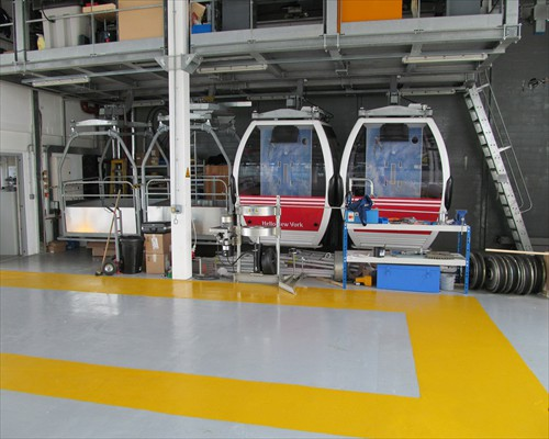 Seamless High Build Epoxy Flooring Emirates Airline Gondola Garage Greenwich  London