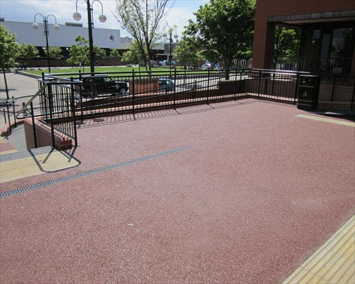 Seamless Natural Stone Surfacing Resin Bound Paving Magistrates Courts Hartlepool