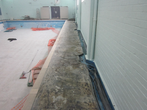 Removal of defective rubber floor surface Huddersfield