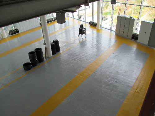 Industrial concrete floor painting Northumberland