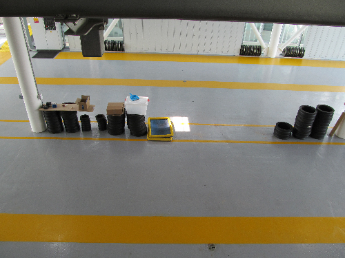 Warehouse floor painting coatings screeds Teesside