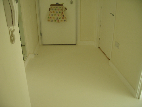 white poured rubber flooring London