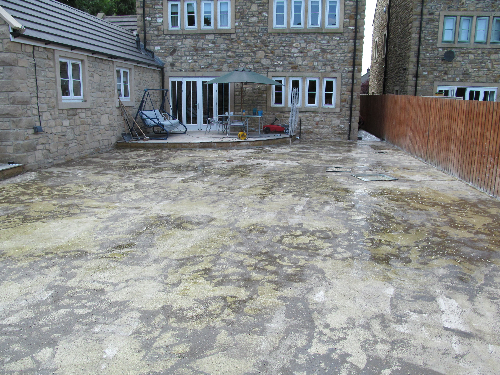 Prepared and primed concrete substrate North East