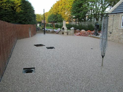 Exterior gravel floor screeds resin paving North East