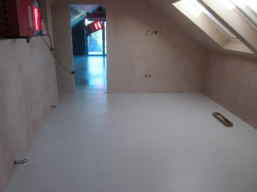 White Poured Resin Flooring Installed At Sheffield New