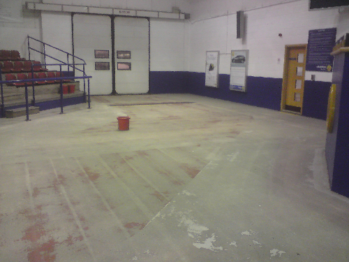 Prepared concrete substrate at Manheim Auctions Bristol