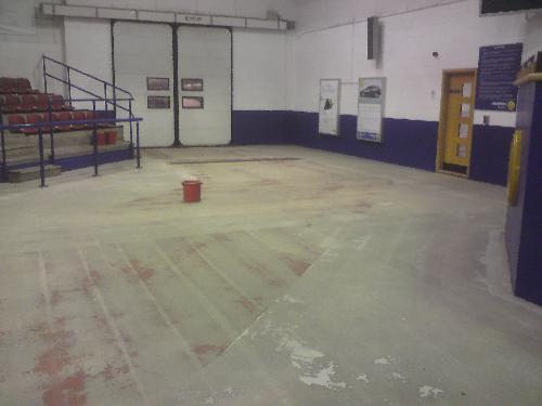 Prepared concrete substrate at Manheim Auctions Bristol