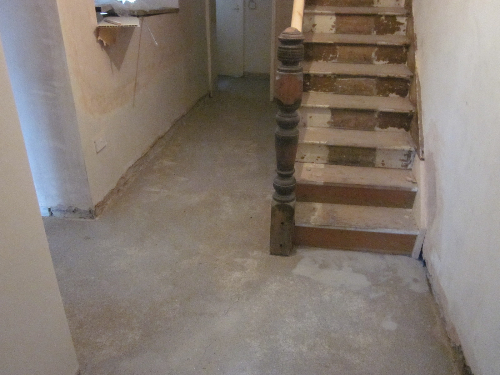 Prepared surface prior to screed installation Newcastle