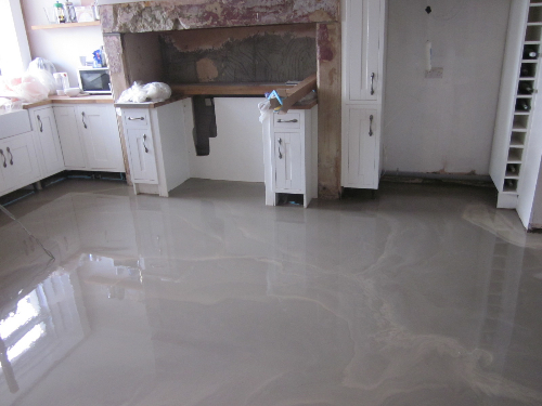Floor screeding at Winchester Terrace Newcastle