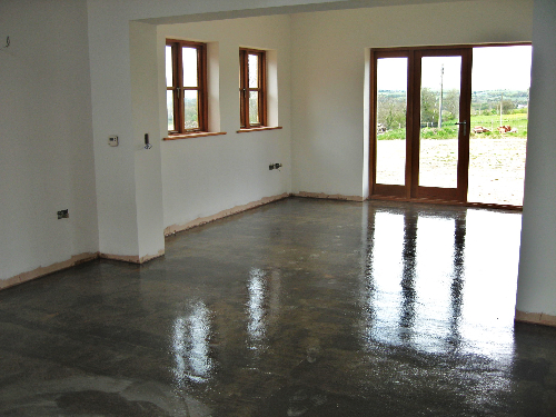 poured floors County Durham