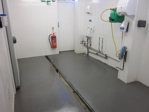 Resin floors at Magpie cafe Whitby North Yorkshire