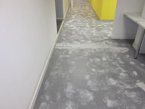 Concrete substrate at Peterlee Citizens Advice Bureau