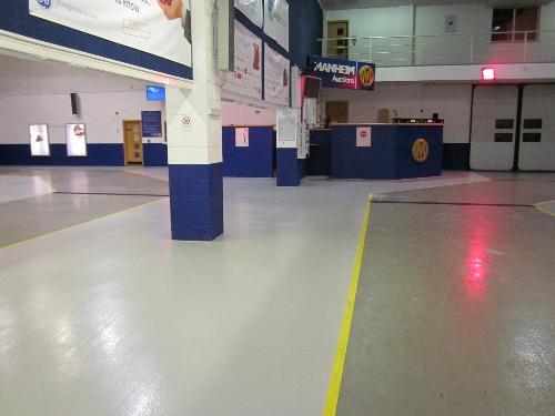 Warehouse floor painting coatings North East England