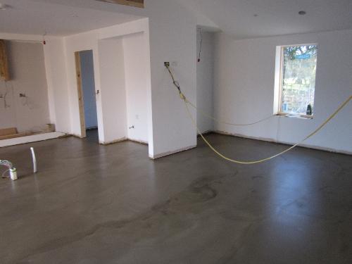 Microscreed waxed concrete flooring Milton Keynes