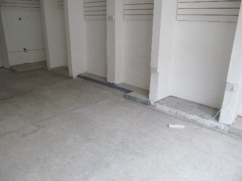 Concrete substrate at Sunderland retail outlet