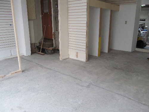 Diamond ground concrete base of Sunderland shop