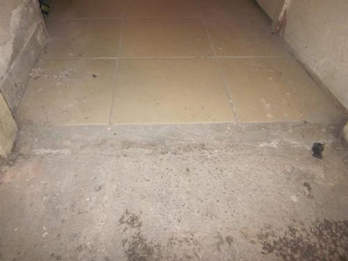 Defective floor tiles Winchester Terrace Newcastle
