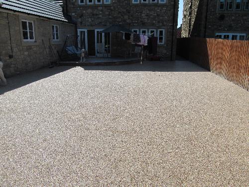Resin exterior gravel floor screeds North East England