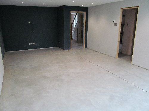 Microscreed concrete interior floor decoration York