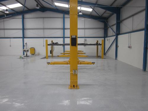 Epoxy resin garage floor coatings North East England
