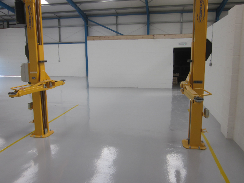 Factory floor coatings epoxy resin surfaces North East
