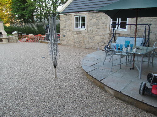 Resin Exteriors gravel floor screeding North East