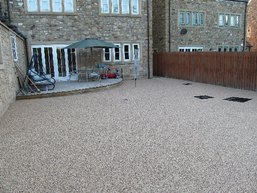 Gravel floor screeds pathways patio surfaces North East