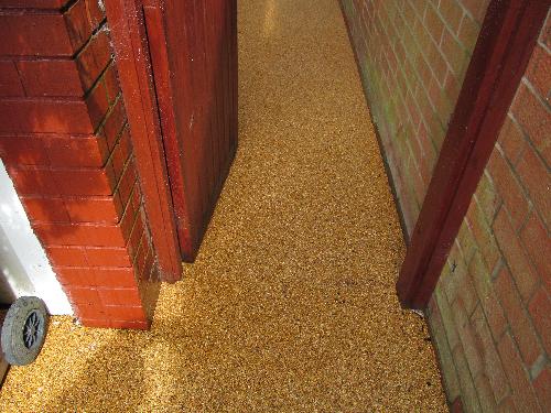 Resin flooring Northumberland resin bonded aggregates