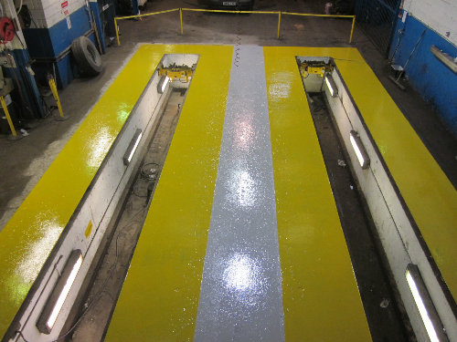Factory floor painting services County Durham