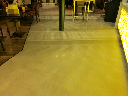 Resin flooring North East Ltd microscreed installation