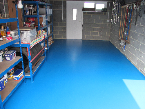 Seamless residential garage resin floors Durham