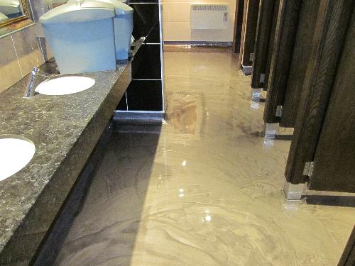 Poured metallic epoxy resin flooring Northumberland