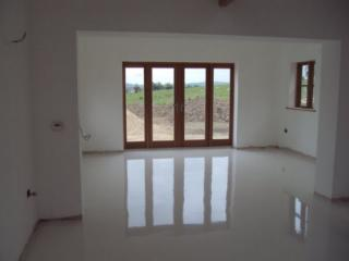 White poured resin flooring County Durham