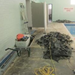 Anti slip resin flooring at Huddersfield Swimming pool