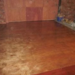 microscreed flooring installed upon timber substrate