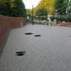 Exterior gravel floor screeds resin paving North East