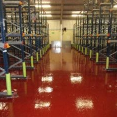 Factory Floor Painting Thirsk North Yorkshire