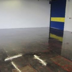 Factory floor painting North East England