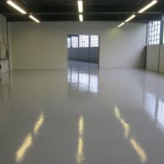 Factory floor painting Newcastle Upon Tyne