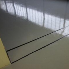 Install joint sealant apply hash markings line marking
