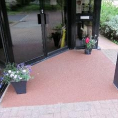 Resin bound paving at Newcastle Business Village