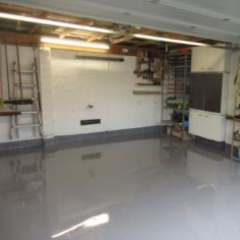 Shiny Garage Flooring Morpeth North East England