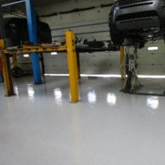 Resin flooring Newcastle Land Rover Lemington