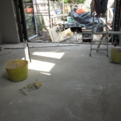 Subfloor prior to microscreed installation Cottingham