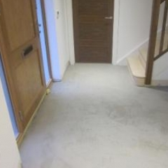 Microscreed installation South London hallway