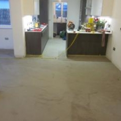 Microscreed residential North London dining room