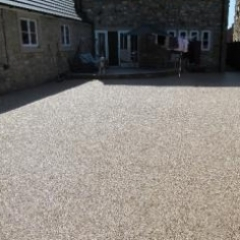 Resin exterior gravel floor screeds North East England