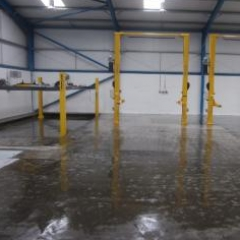 Epoxy resin primer applied at Redcar Garage Cleveland